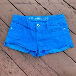 Express   Bright Blue Jean Shorts   Relaxed